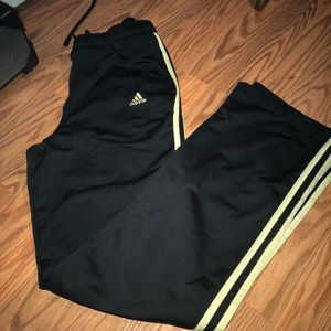 Adidas Yellow & Black Track pants